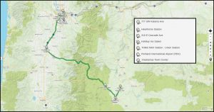 Bend to Portland Route Map